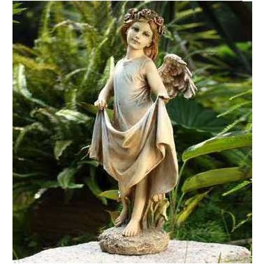 20-inch-Angel-with-Skirt-Bird-Feeder-statue